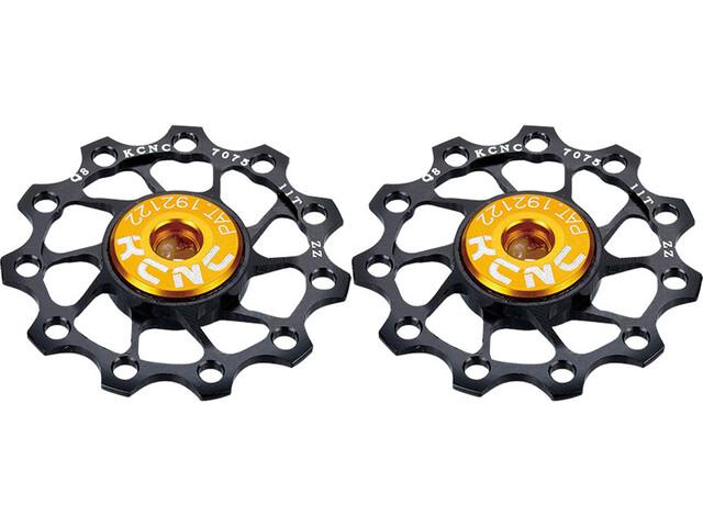 KCNC Jockey Wheel Ultra 12 Dents Roulement en inox 1 Paire, black